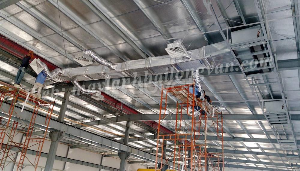 Điện lạnh Hải Long Vân  thi công ống nối gió
