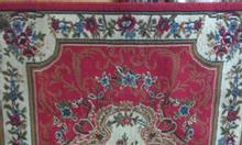 Thảm nhung hoa văn lót sàn, bàn xếp mới