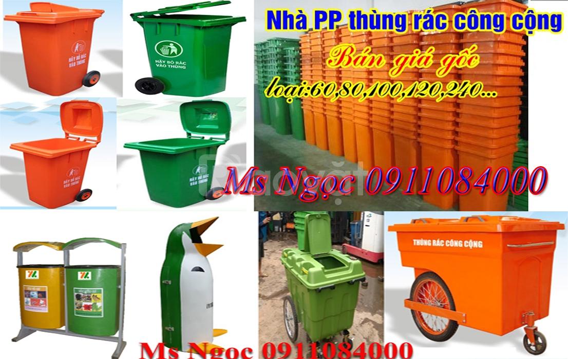 Thùng rác công cộng 120 lít 240 lít giá rẻ