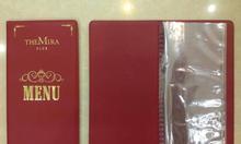Cơ sở sản xuất bìa menu da, bìa menu có ép logo...
