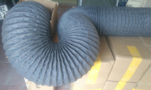 Ống gió mềm vải lõi thép màu xám Tapaulin D150