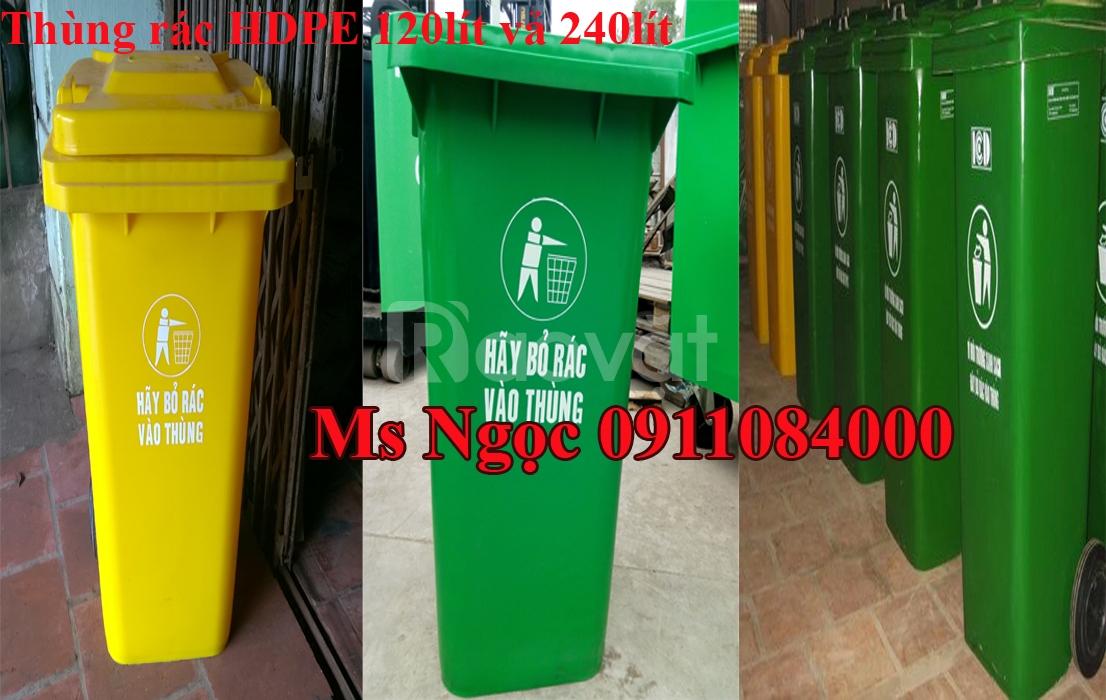 Thùng rác công cộng 120 lít 240 lít