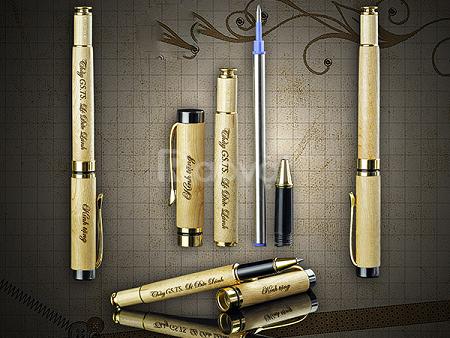 Bút gỗ khắc tên, bút gỗ khắc chữ, sản xuất bút gỗ
