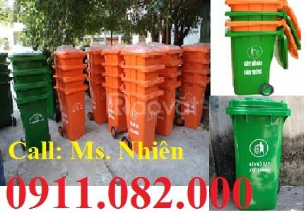 Thùng rác 120 lít giá rẻ - thùng rác y tế