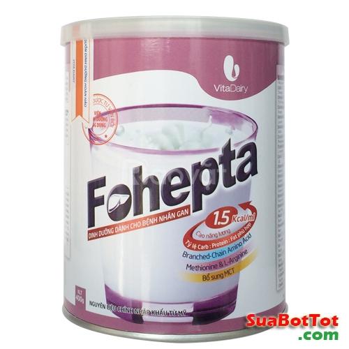 Sữa Fohepta sữa cho người bệnh gan