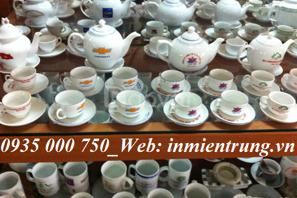 Sản xuất In bộ ấm trà Đà Nẵng, in ly sứ Đà Nẵng