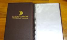 Bìa menu da, bìa kẹp tiền, bìa menu đóng còng