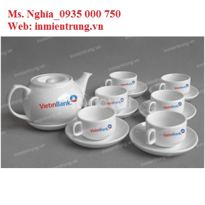 Sản xuất, in bộ ấm trà Đà Nẵng, bộ ấm trà in ấn ĐN