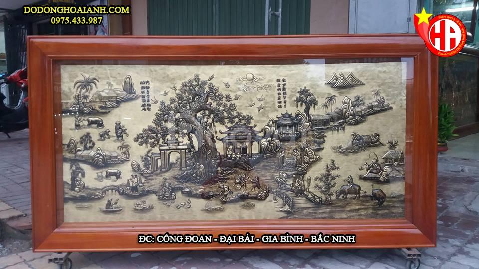 Tranh đồng quê giả cổ Việt Nam