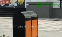 Thùng rác gỗ nhựa Việt Pháp