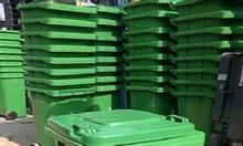 Thùng rác nhựa 120l, thùng rác 2 bánh xe đẩy