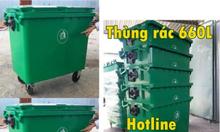 Phân phối thùng rác 660 lít giá rẻ