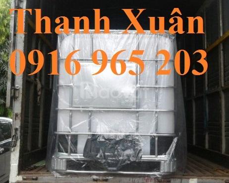 Bán Tank IBC 1000 lít đựng hóa chất, thực phẩm