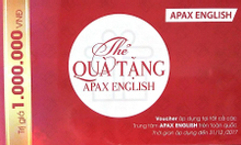 Thẻ Apax English 1 triệu