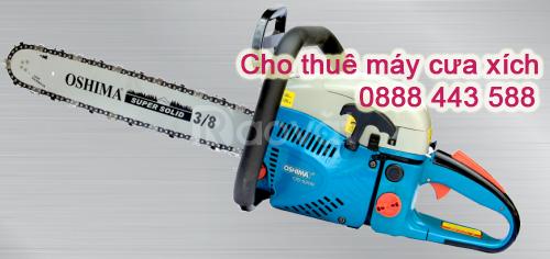 Cho thuê máy cưa cây, máy cưa xích tại Hà Nội