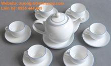 In logo bộ ly tách, cốc sứ, ấm trà tại Đà Nẵng