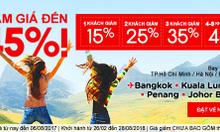 Cùng nhau bay với Air Asia giảm giá vé đến 45%