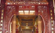 Cửa võng thờ gỗ đẹp sơn son thếp bạc, thếp vàng