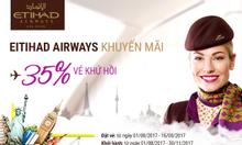 Etihad Airways khuyến mãi 35% giá vé khứ hồi