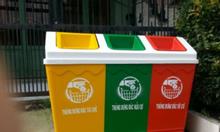 Bán thùng rác nhựa.Thùng rác 3 ngăn phân loại rác.