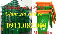 Phân phối thùng rác 120 lít, 240 lít giá rẻ