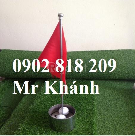 Bộ cờ golf mini, lỗ golf inox mini, cờ golf