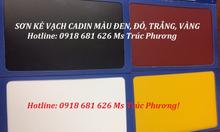 Cần màu sơn kẻ vạch Cadin màu vàng lon 5kg giá rẻ