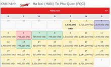 Vé máy bay từ Hà Nội đi Phú Quốc giá rẻ chỉ  799k
