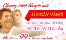 Vé Vietnam Airlines 99 USD – tháng 8