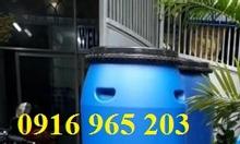 Bán phuy nhựa 120L nắp rời đựng hóa chất