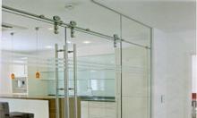 Vách kính cường lực, cửa kính thủy lực, tự động