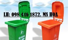 Thùng rác nhựa 60 lít có bánh xe, thùng rác cao cấp