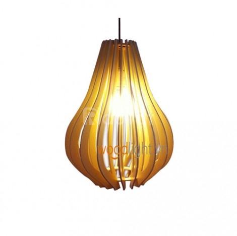 Đèn thả trần trái lê Woodlight