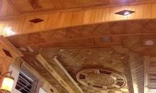 Nhận thi công trần sàn gỗ, thạch cao, sơn bả