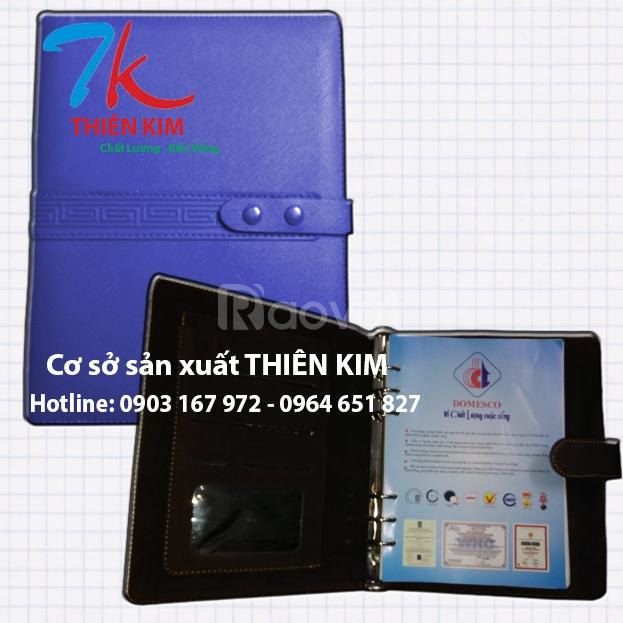 Cung cấp sổ tay, bìa menu, bìa kẹp tiền,sổ da cao cấp giá rẻ tại HCM