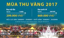 Săn vé Mùa Thu Vàng Vietnam Airlines từ 299k
