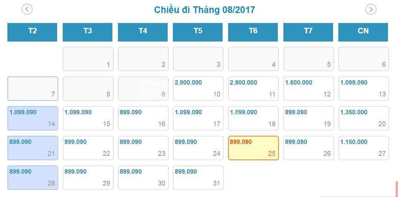 Vé máy bay từ Hà Nội đi Sài Gòn VietnamAirline giá từ 899k