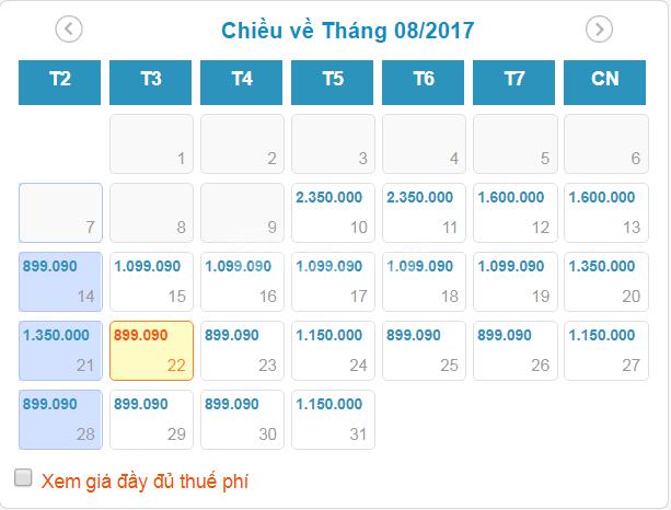 Vé máy bay từ Sài Gòn đi Hà Nội của VietnamAirline giá từ 899k