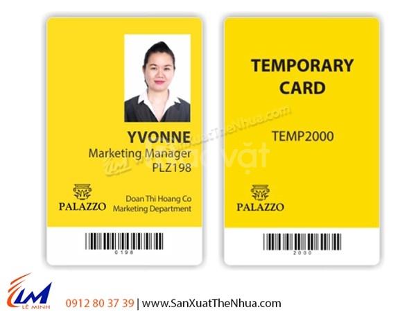 In thẻ nhựa nhân viên giá rẻ, làm thẻ nhựa PVC