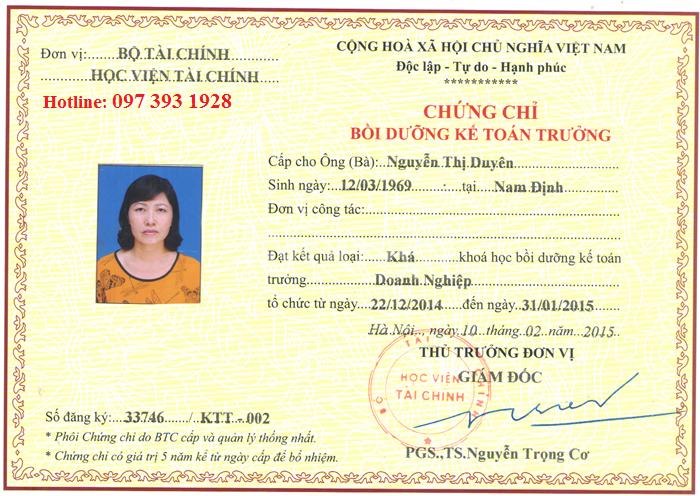 Đào tạo kế toán trưởng tại Quảng Ninh