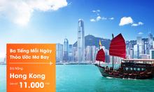 Jetstar khuyến mãi vé 11k đi Bangkok và Hong Kong
