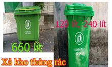 Thùng rác 120l,240l,660l, xả kho không lợi nhuận