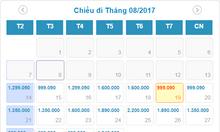 Vé Hà Nội đi Phú Quốc 1.3 triệu cả thuế, phí của VietnamAirline