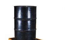 Pallet chống tràn dầu, hóa chất loại 2 phi, có van xả đáy