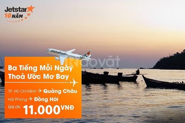 Jetstar tung vé đi Đồng Hới/ Quảng Châu 11k