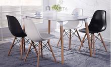 Bộ bàn ăn 4 ghế hiện đại cho căn hộ điện tích hẹp tại hcm