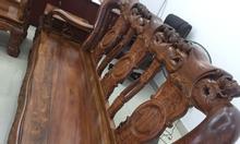 Thanh lý bộ bàn ghế gỗ phòng khách giá rẻ