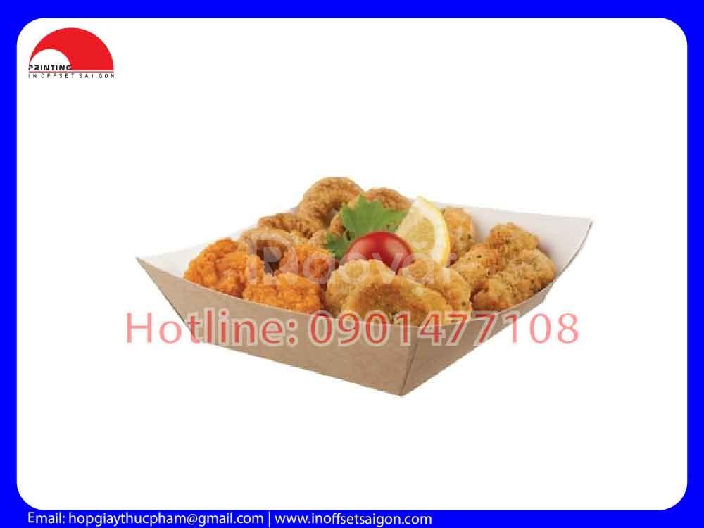 Khay giấy thực phẩm - Takeaway paper tray