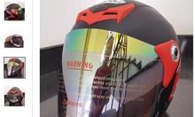 Nón bảo hiểm Moto Napoli tem bọ cạp đỏ kiểm định Quatest 3
