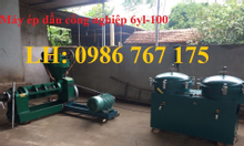 Máy ép dầu công nghiệp giá rẻ ép nhanh, máy ép dầu 6yl-100